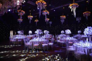сватбена декорация на таван